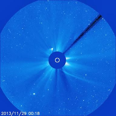 fragmento do cometa ISON