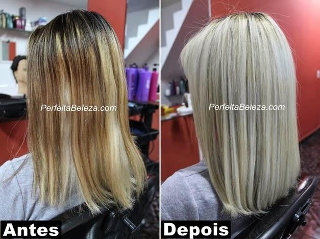 antes e depois, cabelos loiros lindo