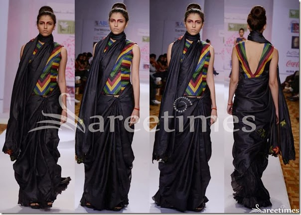 Mayanak_and_Shraddha_Black_Saree