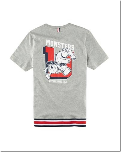 Monster University X Giordano - Grey Tee shirt  Men