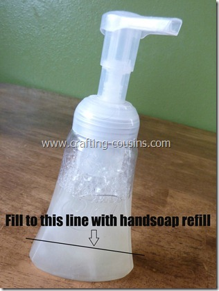 homemade foaming handsoap 1.5