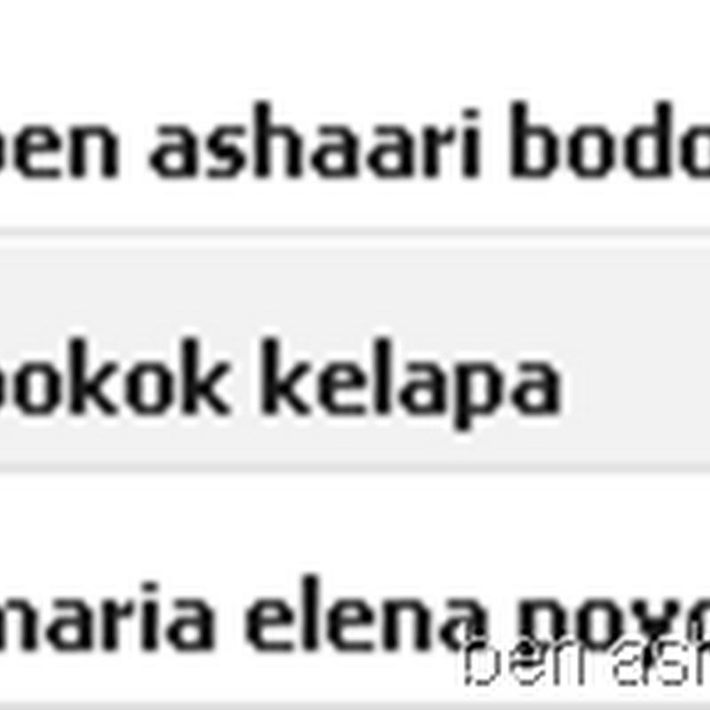 Ben Ashaari bodoh dan Maria Elena poyo