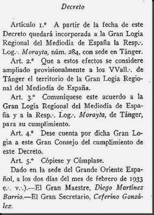 Decreto 1933 D. Martínez Barrio