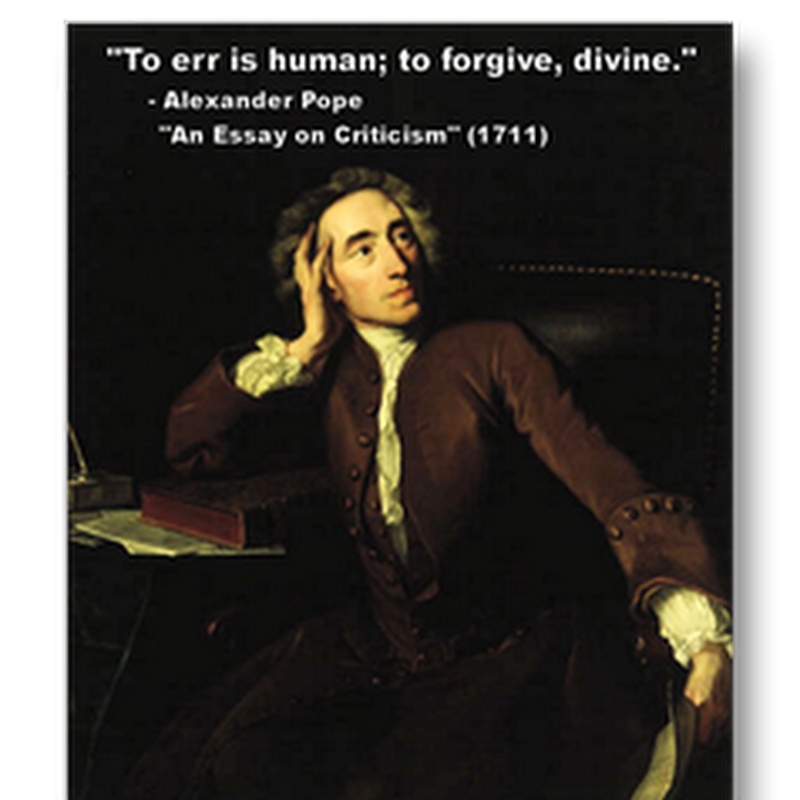 To err is human to forgive is divine essay