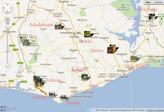 Ghana : localisation des photos