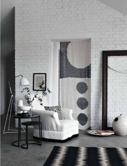 Svart och vit interiör, Emma Thomas 4