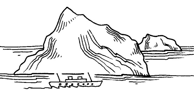 Coloring Pages Mountain Scene