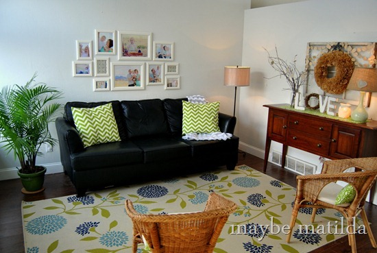 Blue + Green Living Room by maybe matilda