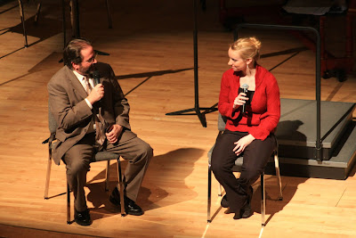 Chris Morrison and Molly Carr at the pre-concert talk