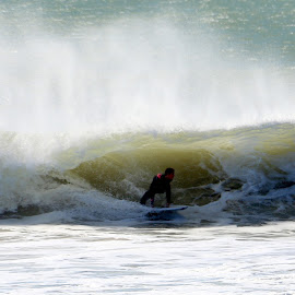 In the sea wave by João Ascenso - Sports & Fitness Surfing ( surfing, wave )