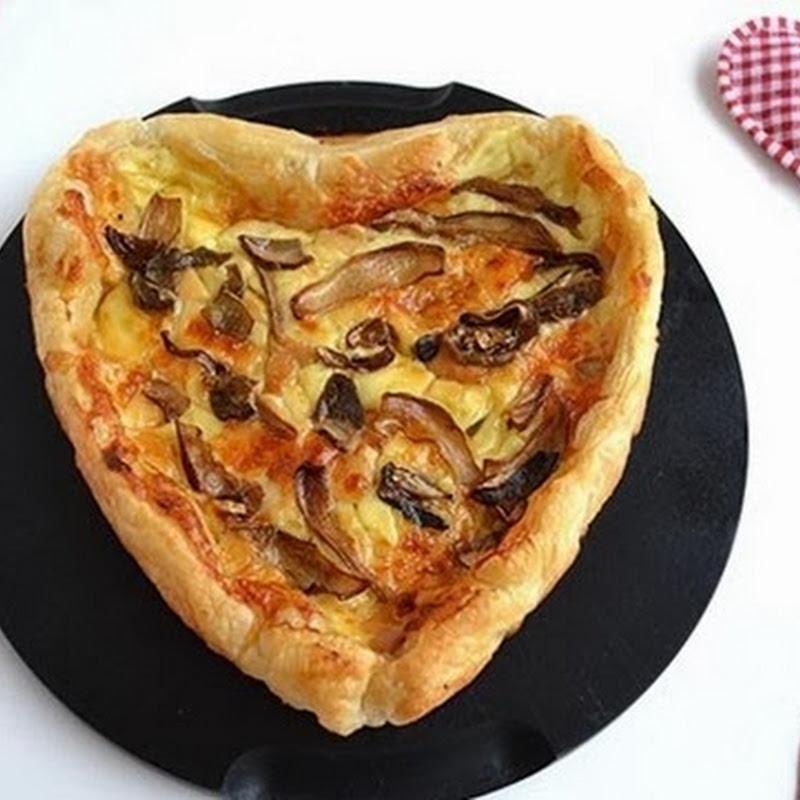 Τυρόπιτα καρδία  με μανιτάρια