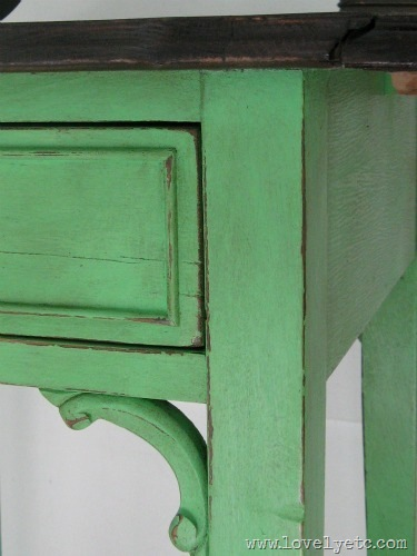 antibes green with dark wax