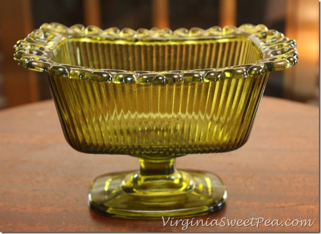 Green Glass Compote