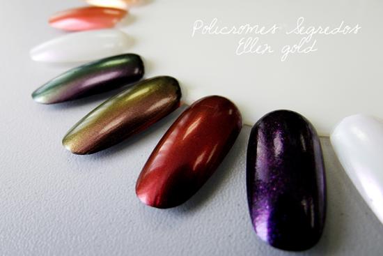 Ellen Gold Segredos - Swatches Policromes