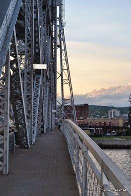 Walking over the Aerial Bridge