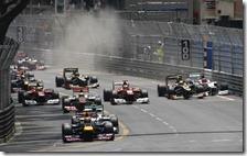 La partenza del gran premio di Monaco 2012