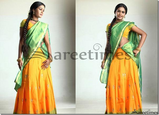 Suhasini_Green_Yellow_Half_Saree