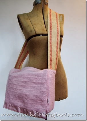 Dutch Girl Originals Upcycled Wool Blanket Messenger Bags