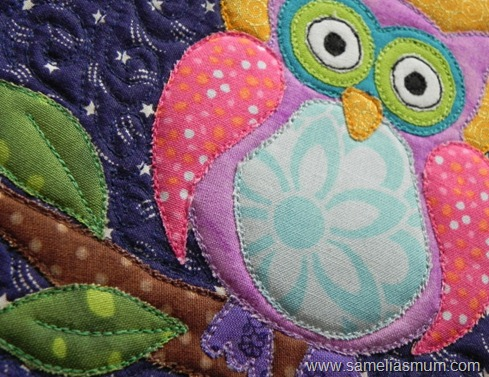 Purple Owl Mug Rug 2