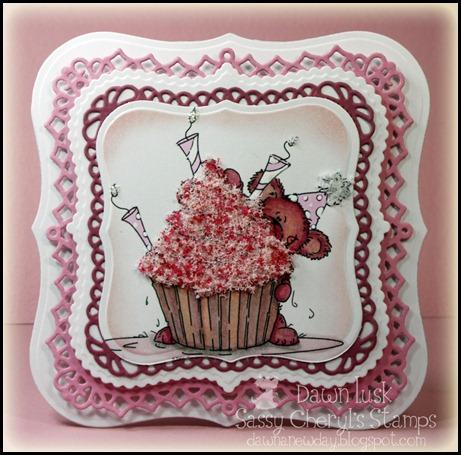 Cupcake Fun, Sassy Cheryl's Stamps, Flower Soft, Spellbinders
