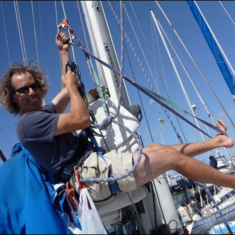Passage Prep: Up the mast & our mast climbing rig