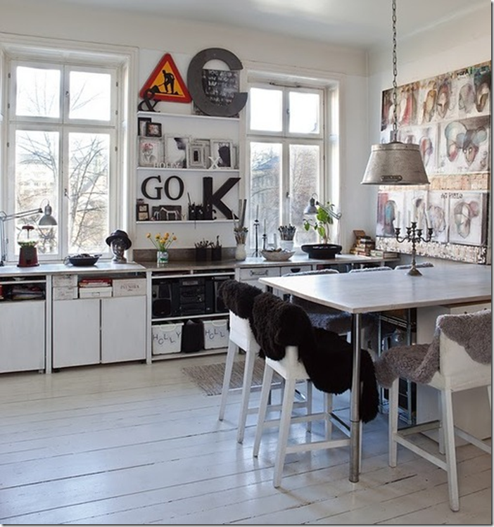 Bright Scandinavian kitchen.