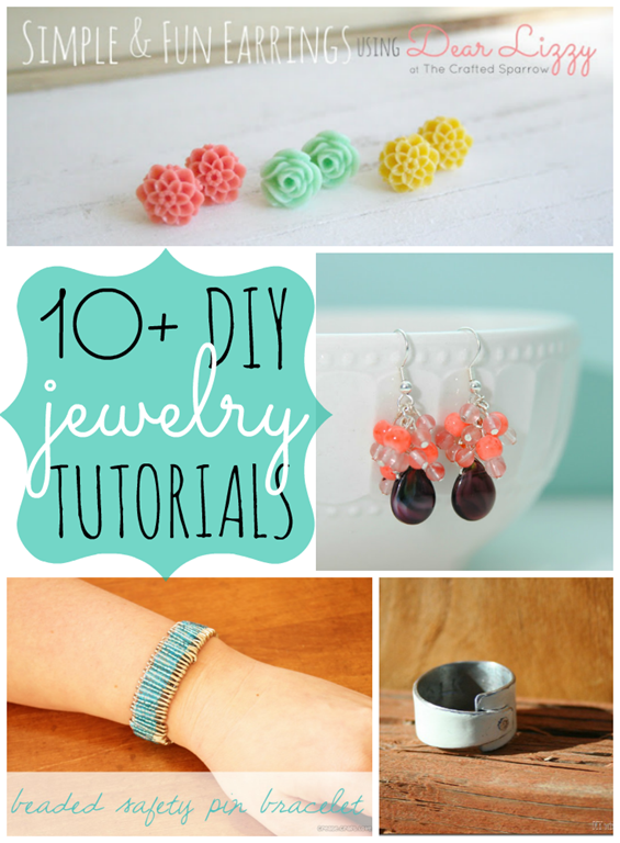 10  DIY Jewelry Tutorials {features from gingersnapcrafts.com}