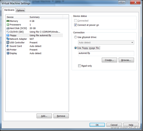Virtual Machine Setting voor Windows 8 CP