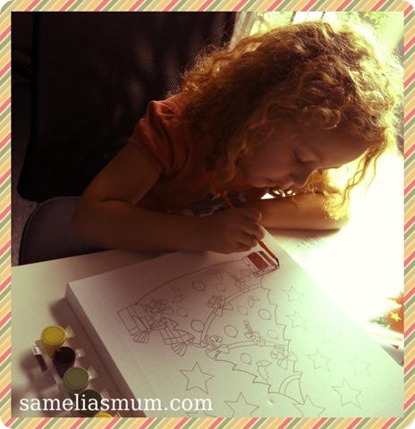Amelia Painting Christmas Tree