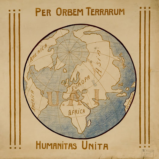 """Per Orbem Terrarum Humanitas Unita"", l'emblème de l'Union des Associations Internationales"