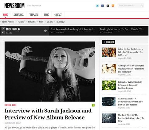 Magazine para portales musicales