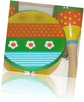18-MI050BSM FLOWER MARACA AND TAMBOURINE SET200
