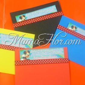 Tarjeta de Invitación: Mickey Mouse