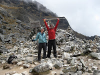 Salkantay Pass - the highest weve ever been - 15,200 ft
