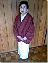 紬に名古屋帯で (2)