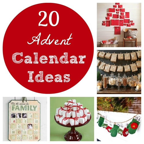 20 Advent Calendar Ideas from The Pink Flour