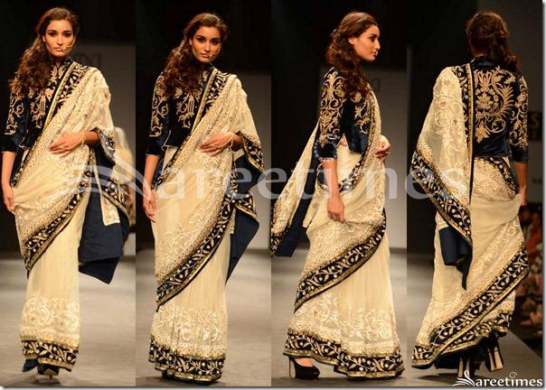 Vineet_Bahl_Cream_Embroidery_Saree