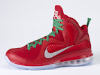 nike lebron 9 gr christmas 8 02 Throwback Thursday: Look Back at LBJs 2011 Christmas Shoes