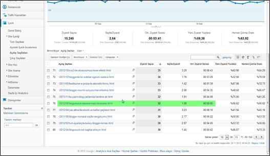 Google Analytics Açılış Sayfaları