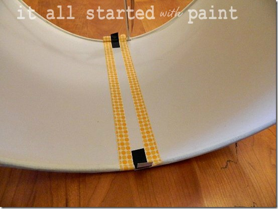 washi tape on drum shade