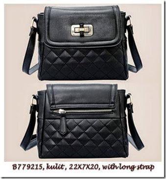 B779215 Black - Kulit,22x7x20,talpan