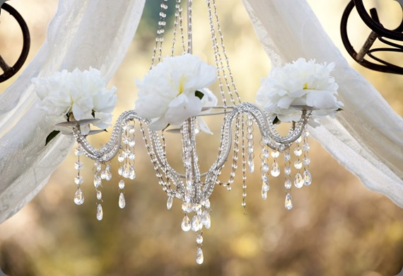 chandelier shabby chic wedding chandelier with white peony  heavenly blooms
