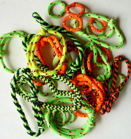 90's neon orange and green friendship bracelets