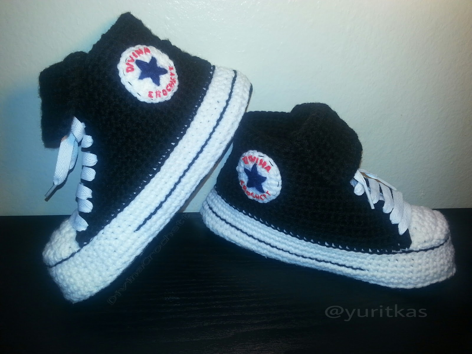 Asombroso Patrón De Crochet Zapato Converse Imágenes - Ideas de ...
