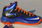 nike lebron 10 ps elite blue black 2 08 Release Reminder: Nike LeBron X P.S. Elite Superhero