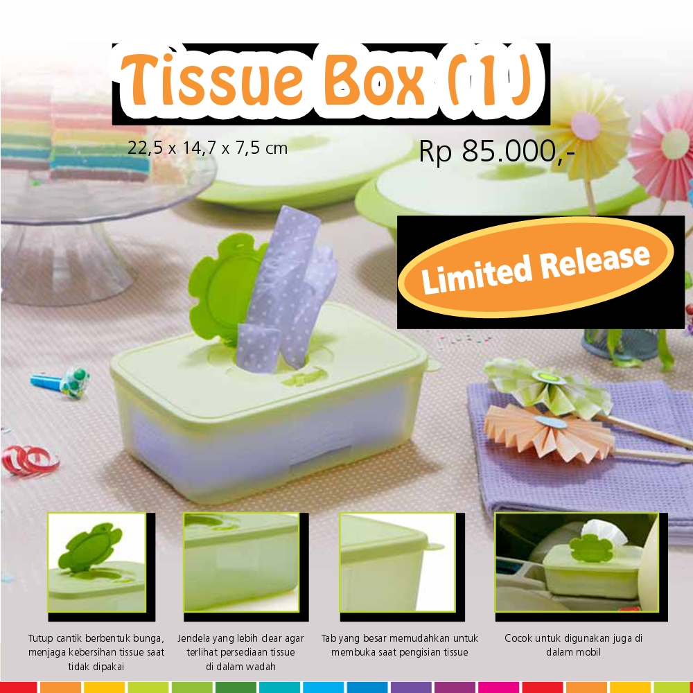 Bandung Tupperware:Tissue Box (1) Limited Release