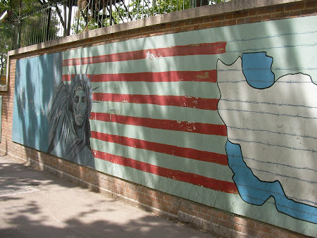 Tehran: anti US Mural paintings