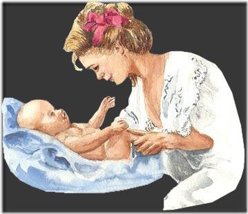madre con bebe vintage (7)