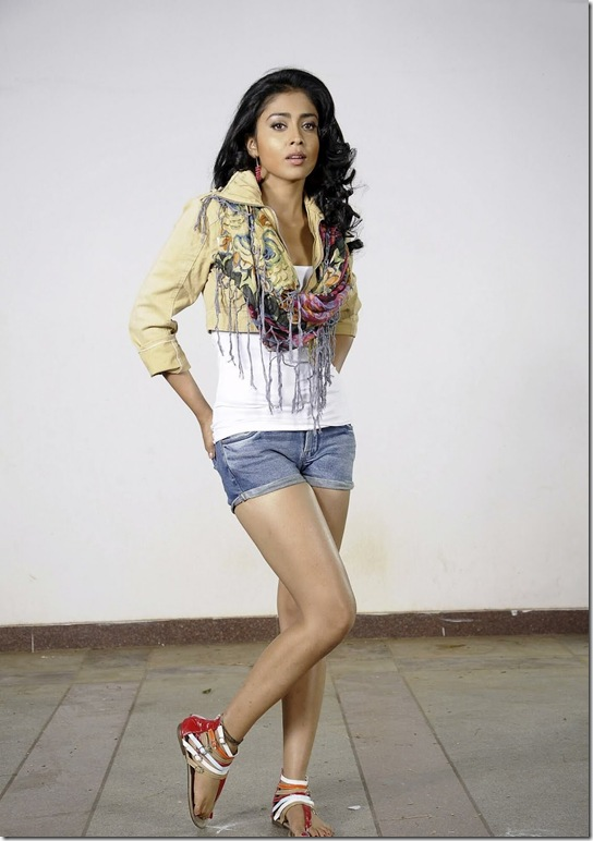 Shriya Saran Short Jeans