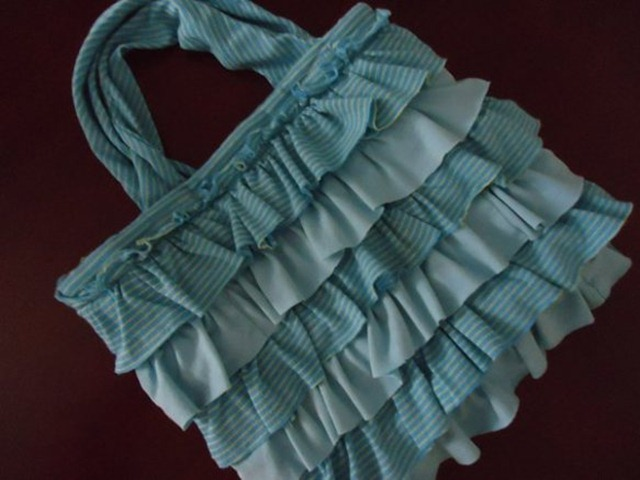 ruffle bag from old tshirt